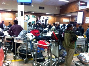 Baggage Claim in Nepal